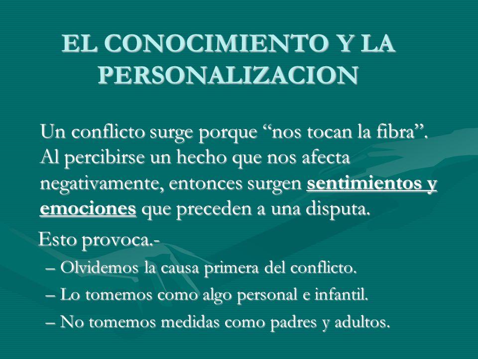 EL CONOCIMIENTO Y LA PERSONALIZACION