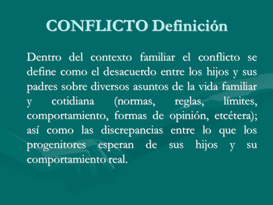 CONFLICTO Definición
