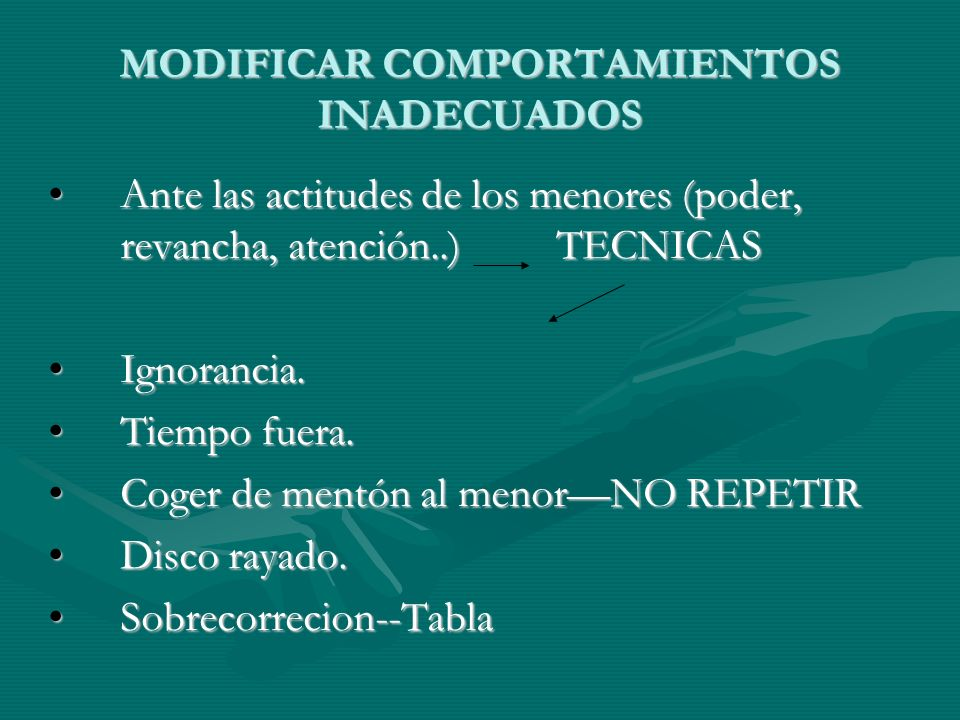 MODIFICAR COMPORTAMIENTOS INADECUADOS
