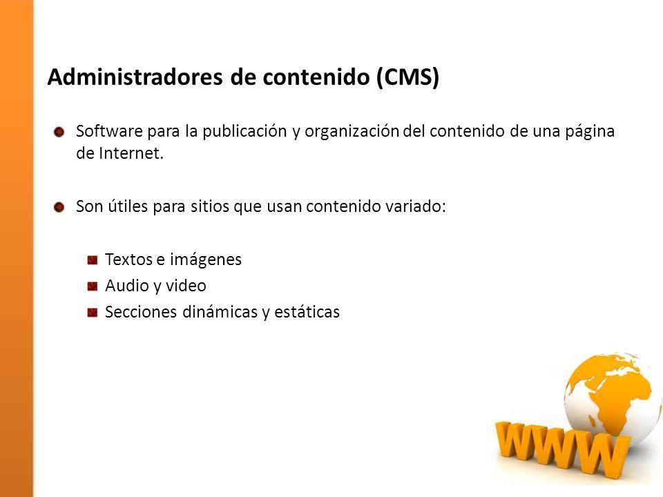 Administradores de contenido (CMS)