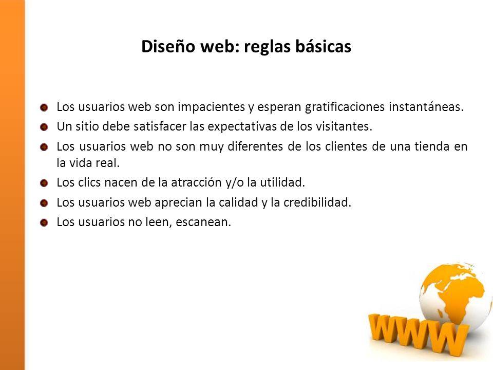 Diseño web: reglas básicas