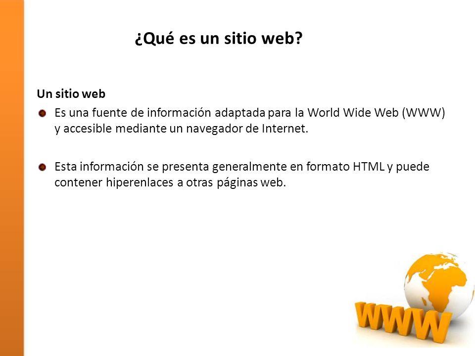 ¿Qué es un sitio web Un sitio web