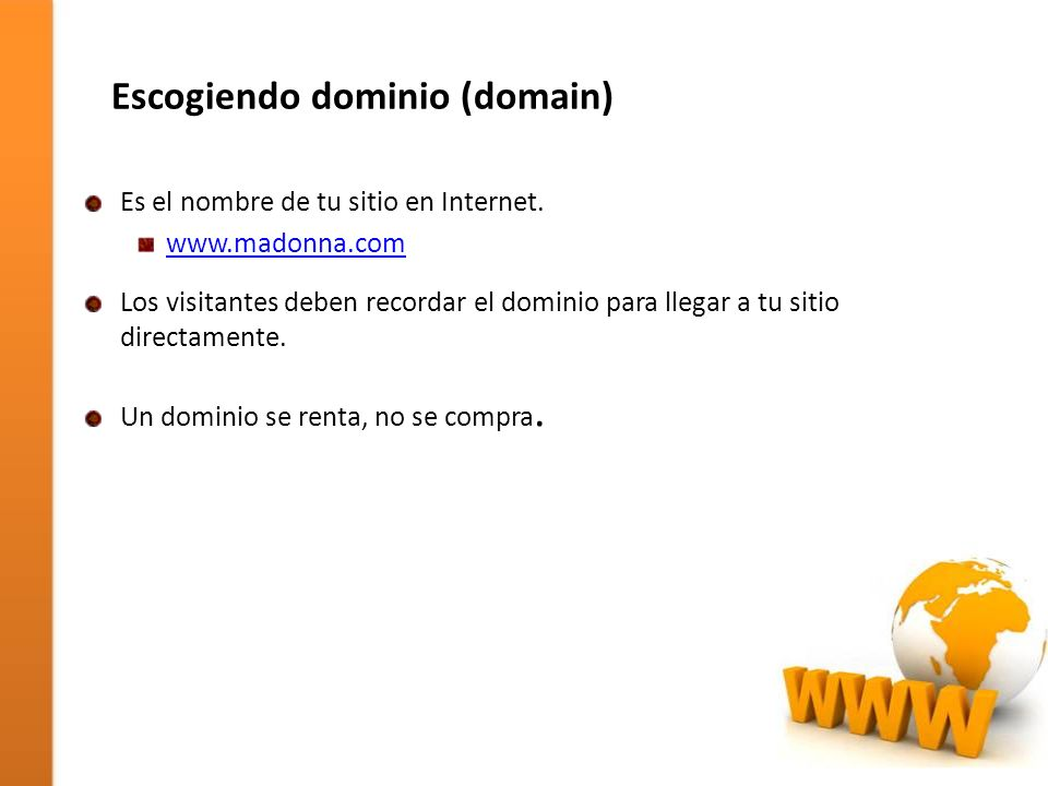 Escogiendo dominio (domain)