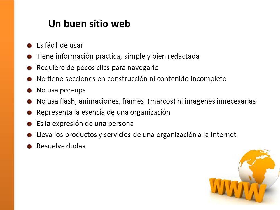 Un buen sitio web Es fácil de usar