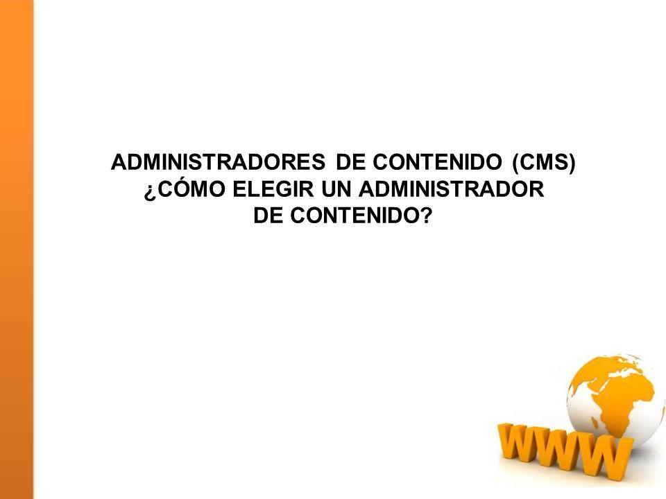 Administradores de contenido (CMS) ¿Cómo elegir un administrador de contenido