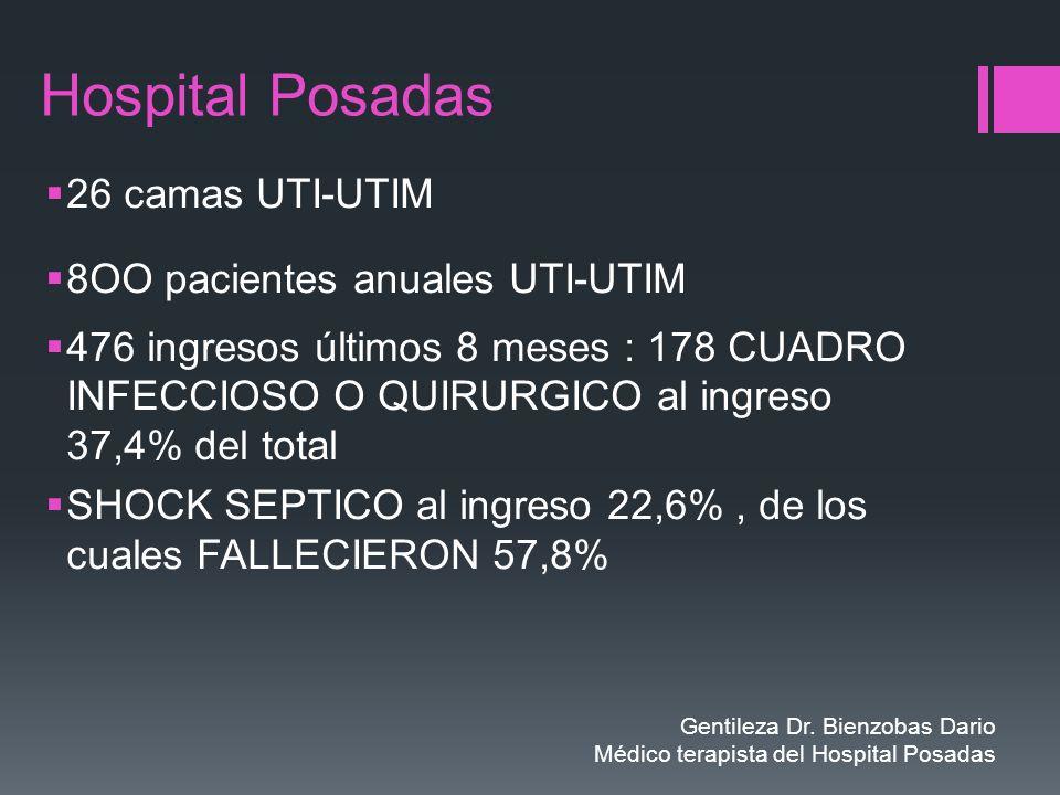 Hospital Posadas 26 camas UTI-UTIM 8OO pacientes anuales UTI-UTIM