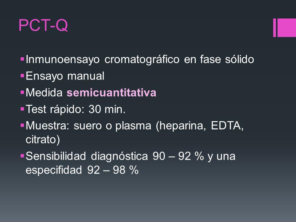 PCT-Q Inmunoensayo cromatográfico en fase sólido Ensayo manual