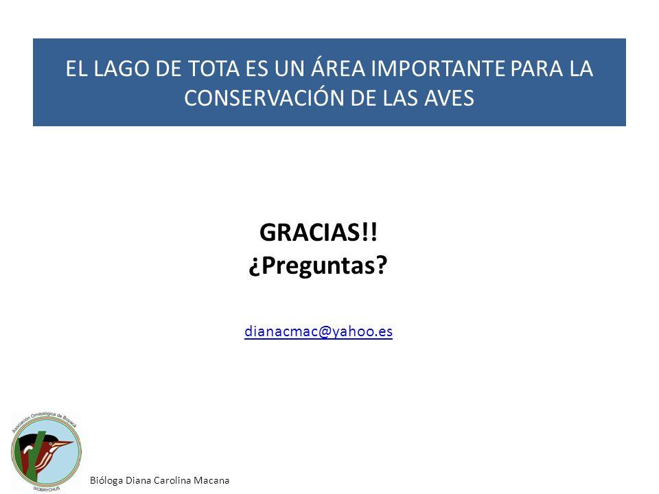 EL LAGO DE TOTA ES UN ÁREA IMPORTANTE PARA LA CONSERVACIÓN DE LAS AVES