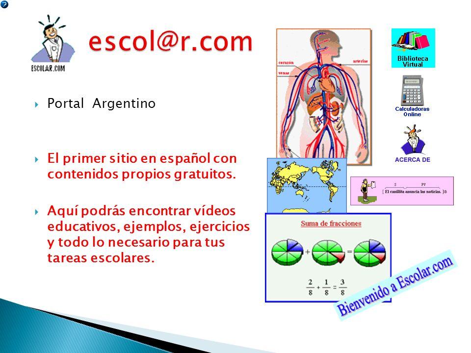 escol@r.com Portal Argentino