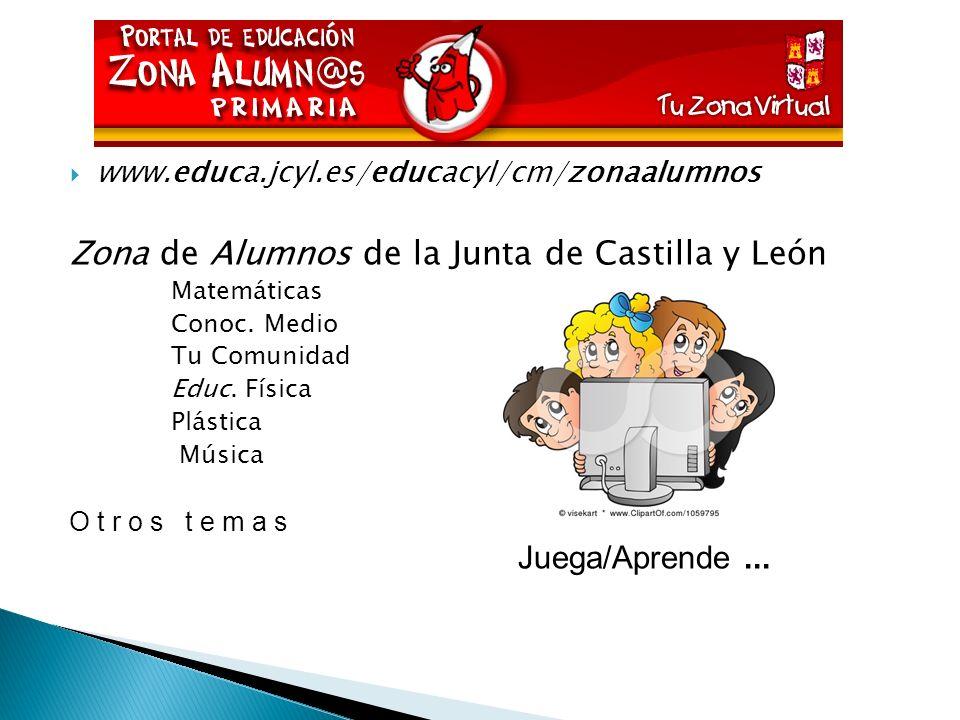 Zona de Alumnos de la Junta de Castilla y León