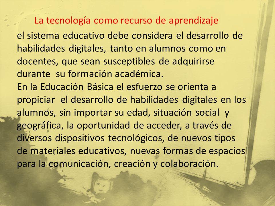 La tecnología como recurso de aprendizaje
