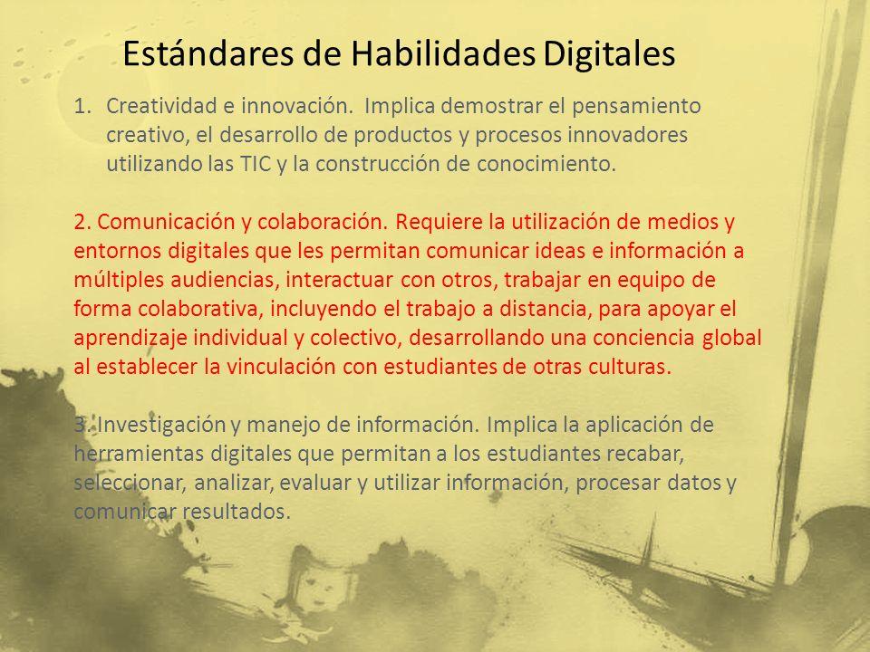 Estándares de Habilidades Digitales
