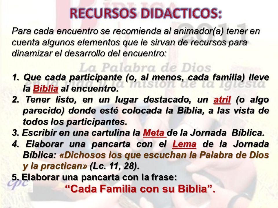 Cada Familia con su Biblia .