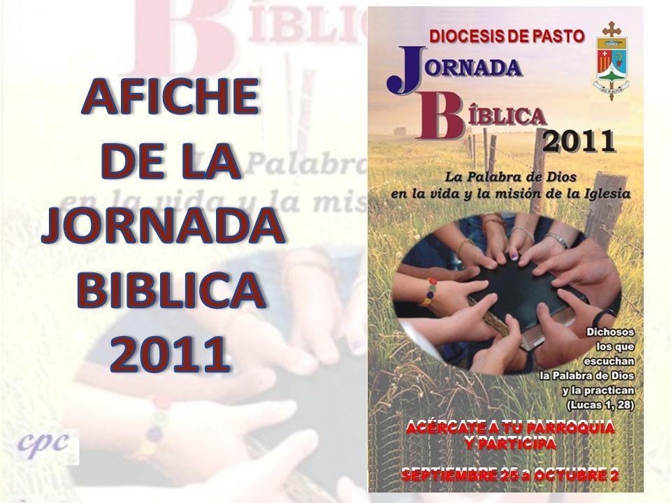 AFICHE DE LA JORNADA BIBLICA 2011