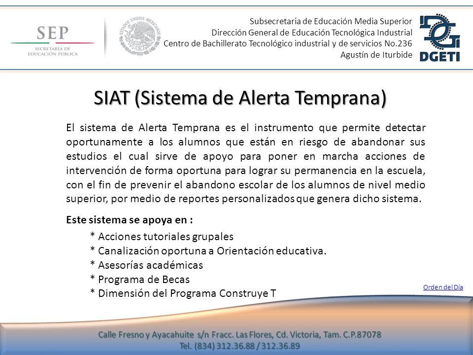 SIAT (Sistema de Alerta Temprana)