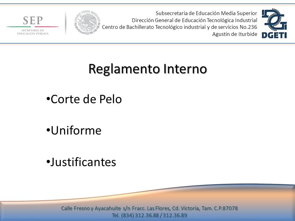 Reglamento Interno Corte de Pelo Uniforme Justificantes