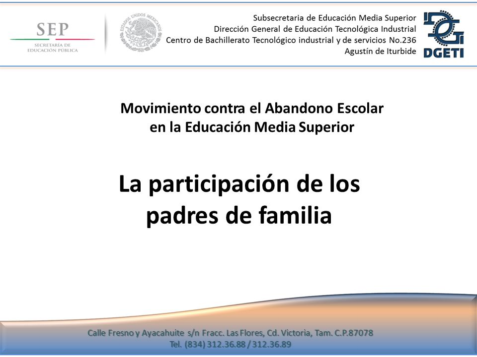 Movimiento contra el Abandono Escolar en la Educación Media Superior