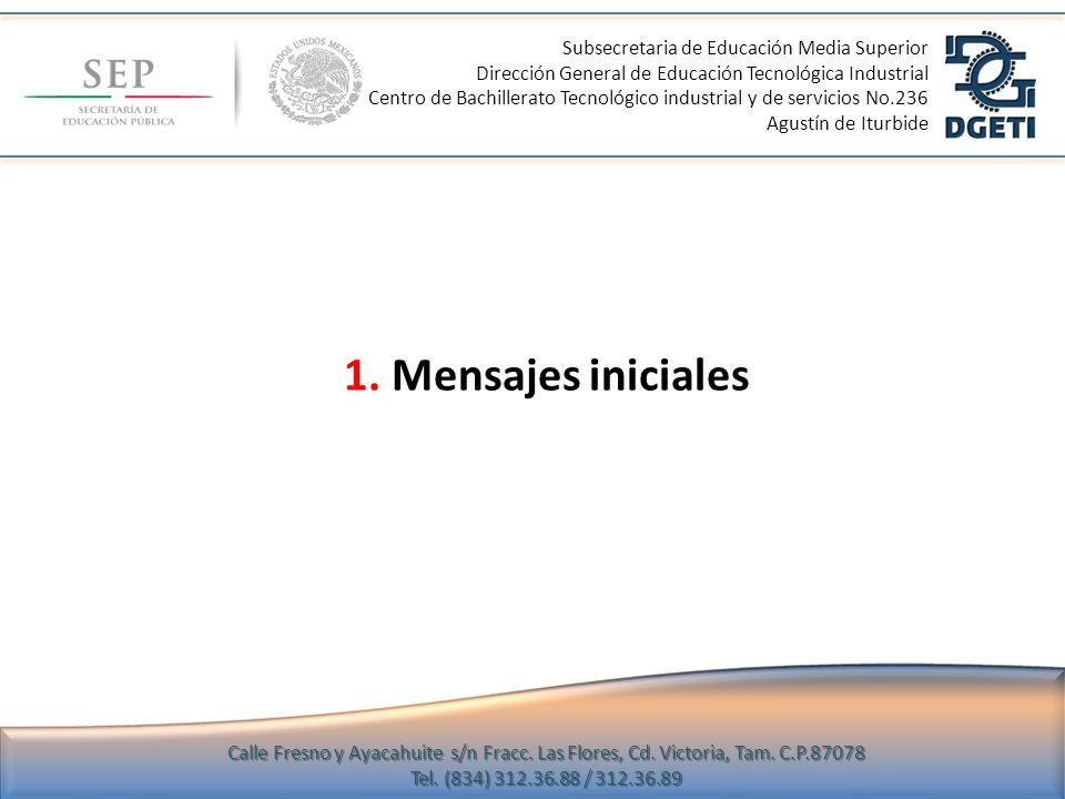 1. Mensajes iniciales Subsecretaria de Educación Media Superior