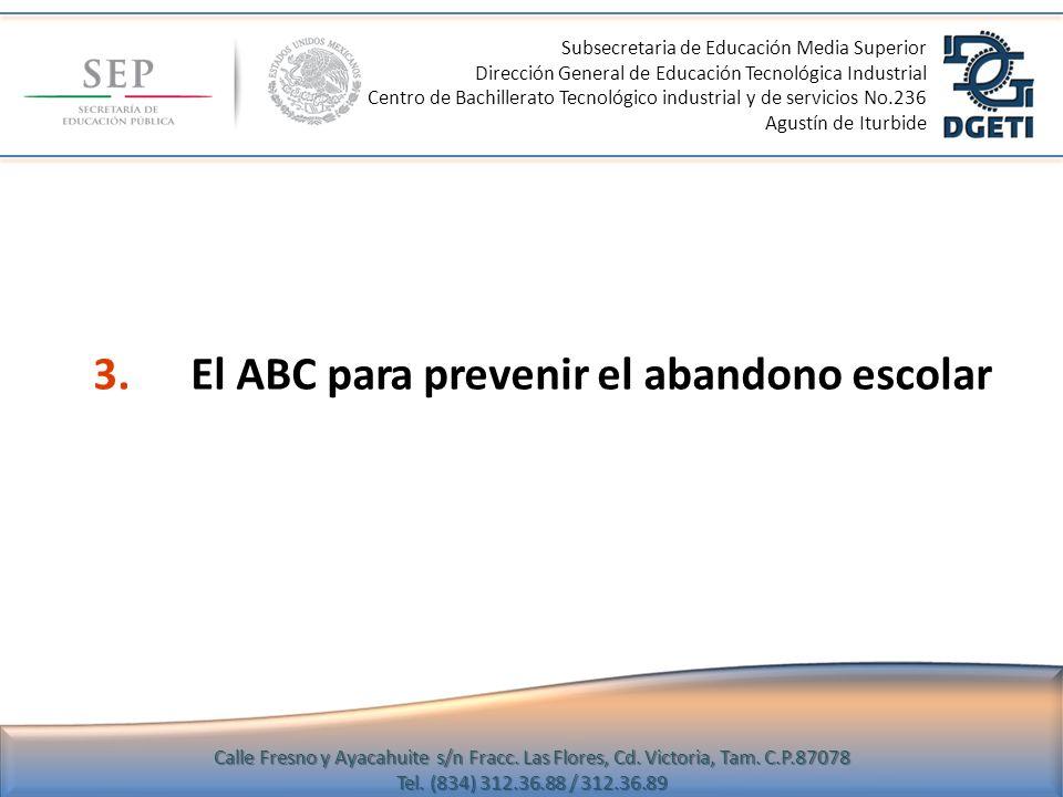 3. El ABC para prevenir el abandono escolar