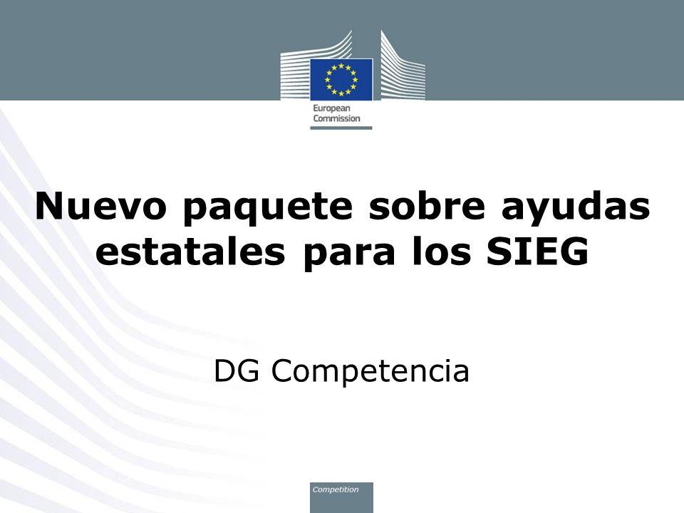 Nuevo paquete sobre ayudas estatales para los SIEG