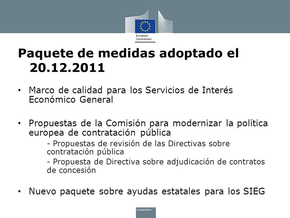 Paquete de medidas adoptado el 20.12.2011