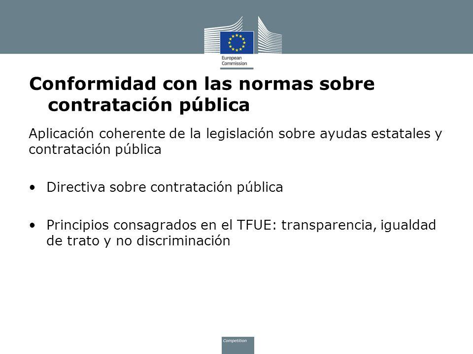 Conformidad con las normas sobre contratación pública