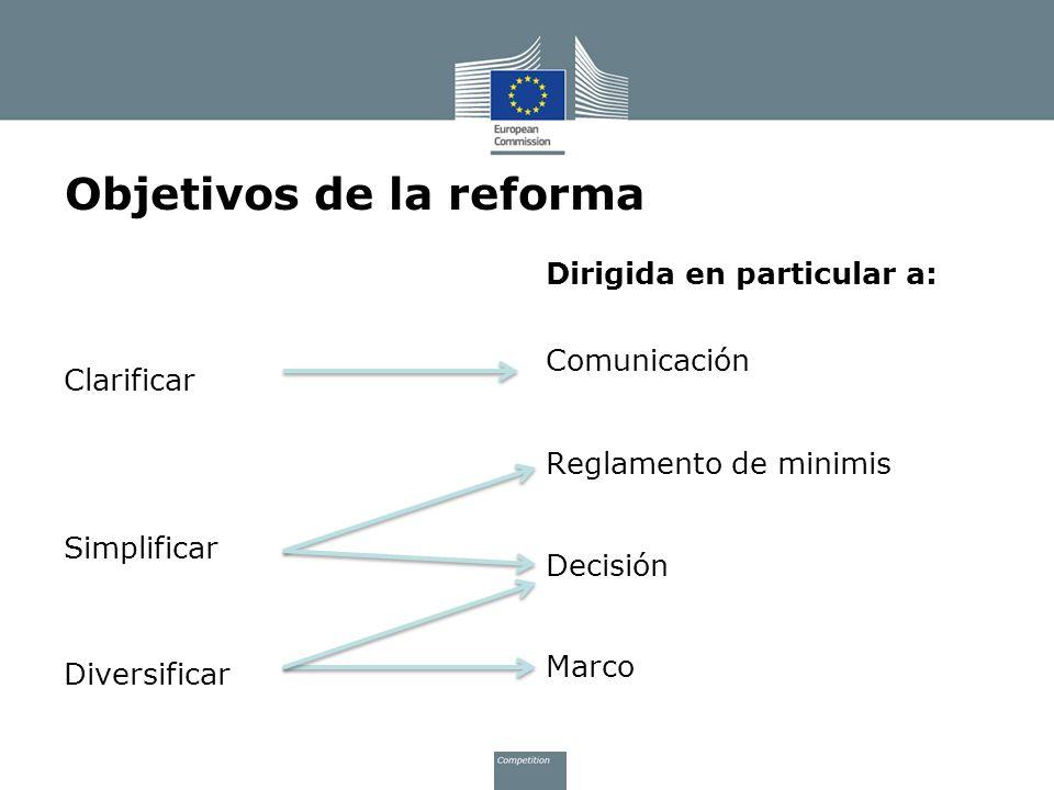 Objetivos de la reforma