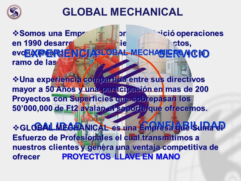 GLOBAL MECHANICAL EXPERIENCIA SERVICIO CONFIABILIDAD CALIDAD