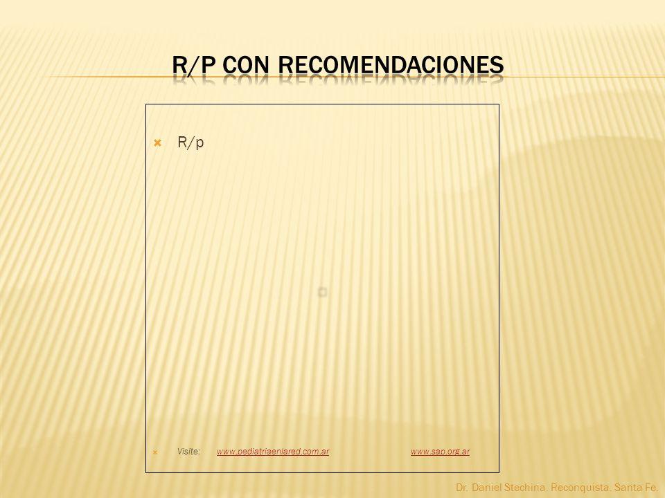 R/p con recomendaciones