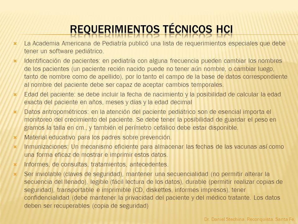 Requerimientos Técnicos HCI