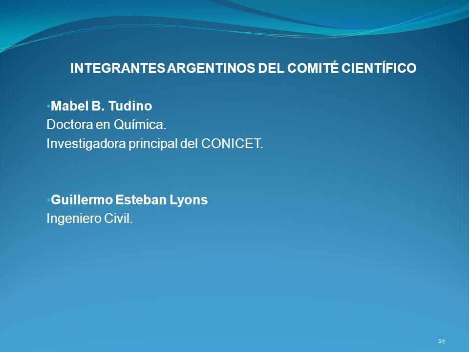 INTEGRANTES ARGENTINOS DEL COMITÉ CIENTÍFICO