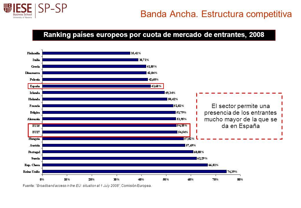 Banda Ancha. Estructura competitiva