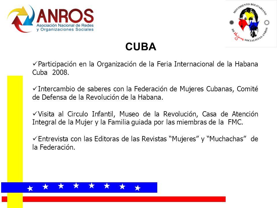 CUBA Participación en la Organización de la Feria Internacional de la Habana Cuba 2008.