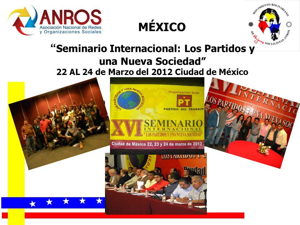 Seminario Internacional: Los Partidos y una Nueva Sociedad