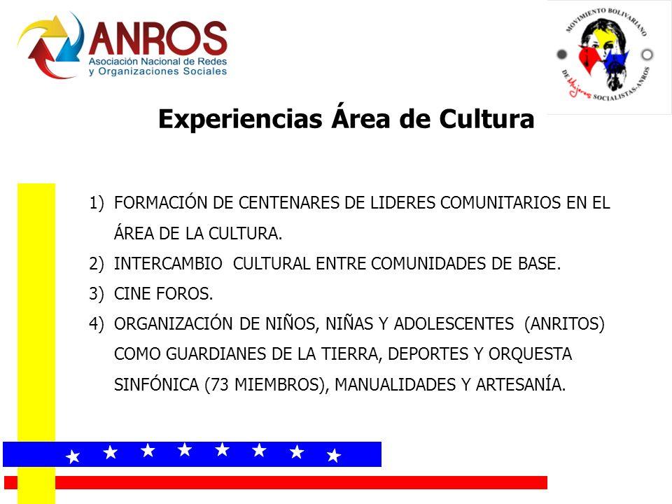 Experiencias Área de Cultura
