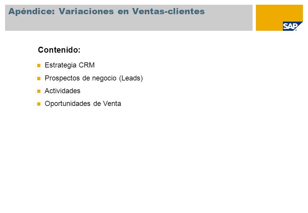 Apéndice: Variaciones en Ventas-clientes
