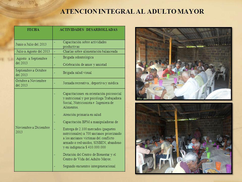 ATENCION INTEGRAL AL ADULTO MAYOR