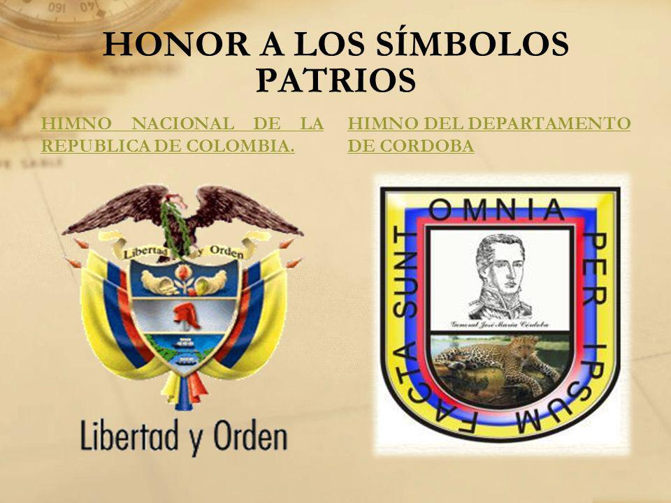 HONOR A LOS SÍMBOLOS PATRIOS