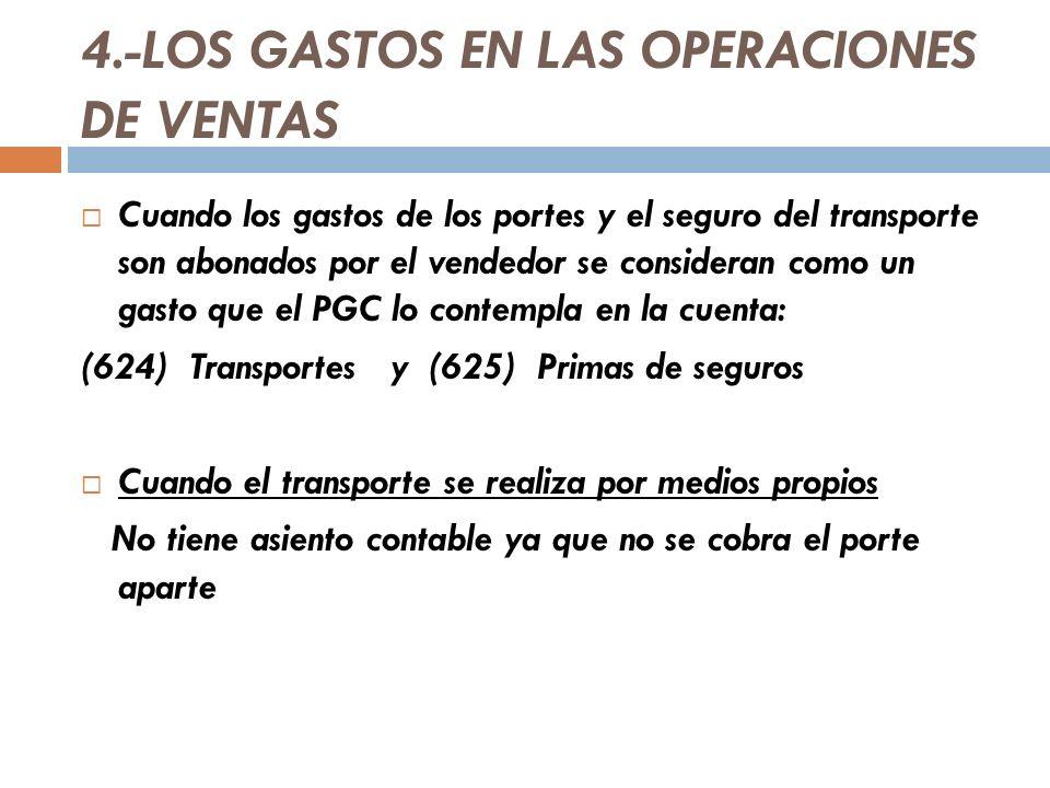 4.-LOS GASTOS EN LAS OPERACIONES DE VENTAS