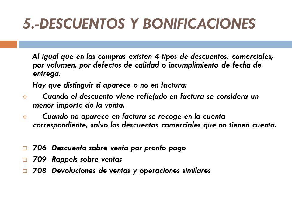 5.-DESCUENTOS Y BONIFICACIONES