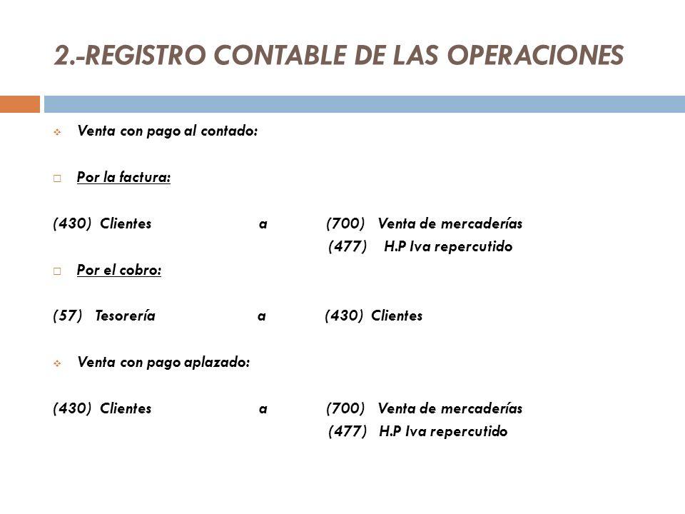 2.-REGISTRO CONTABLE DE LAS OPERACIONES