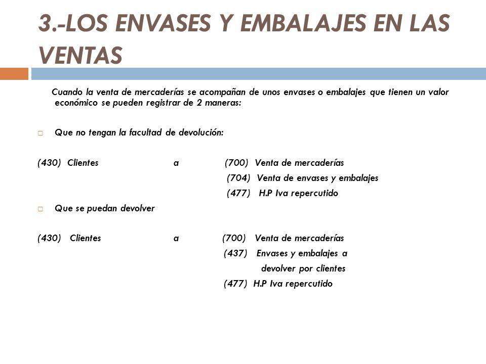 3.-LOS ENVASES Y EMBALAJES EN LAS VENTAS