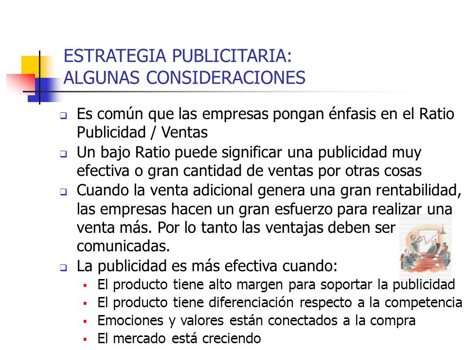 ESTRATEGIA PUBLICITARIA: ALGUNAS CONSIDERACIONES