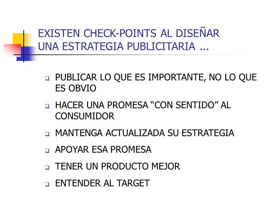 EXISTEN CHECK-POINTS AL DISEÑAR UNA ESTRATEGIA PUBLICITARIA ...