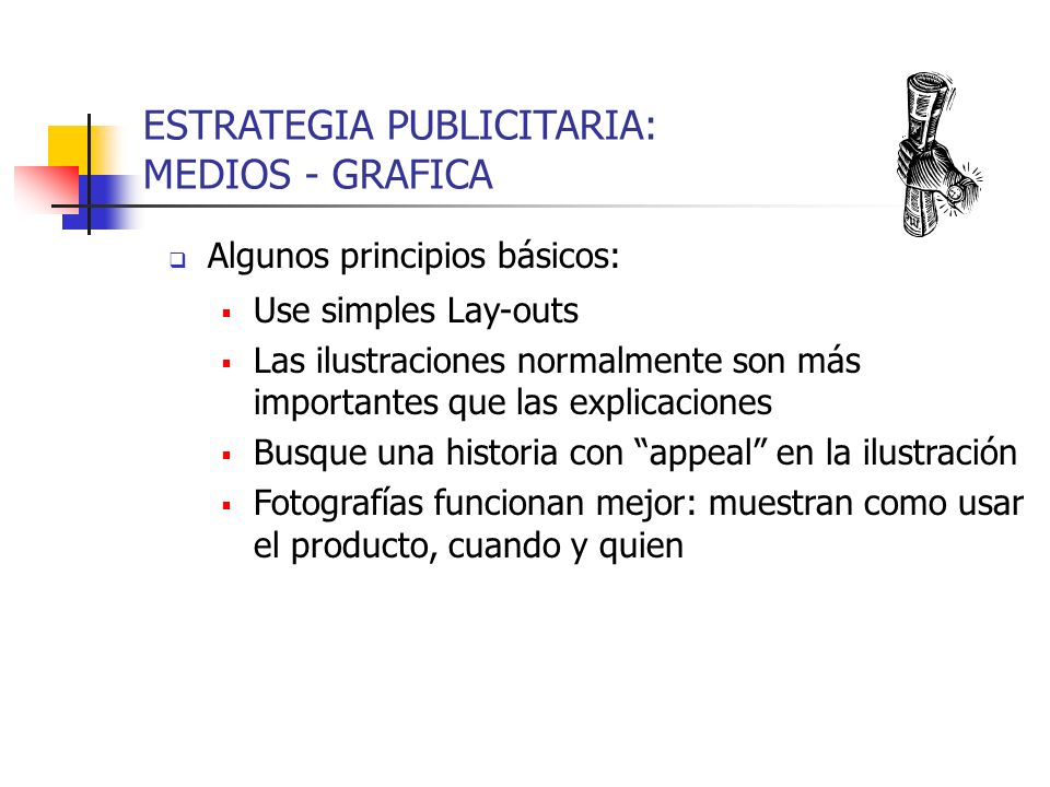 ESTRATEGIA PUBLICITARIA: MEDIOS - GRAFICA