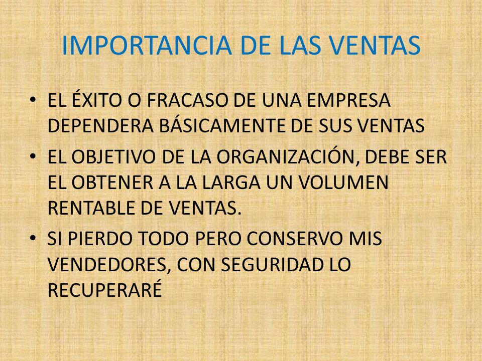 IMPORTANCIA DE LAS VENTAS