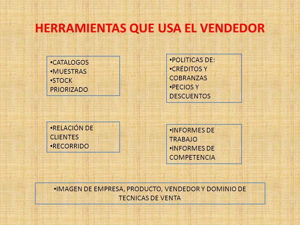 HERRAMIENTAS QUE USA EL VENDEDOR