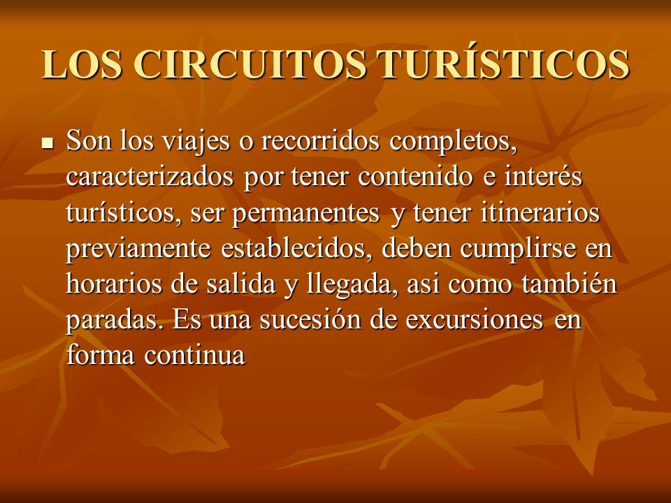 LOS CIRCUITOS TURÍSTICOS
