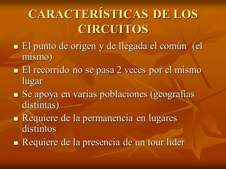 CARACTERÍSTICAS DE LOS CIRCUITOS