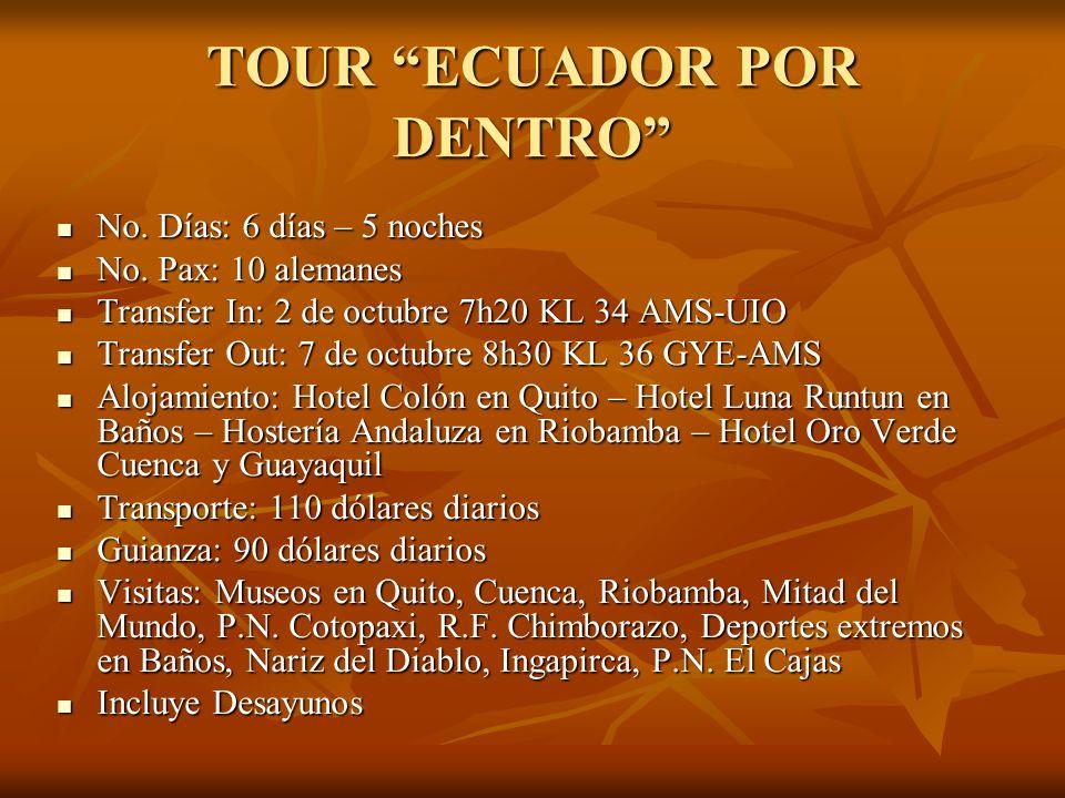 TOUR ECUADOR POR DENTRO